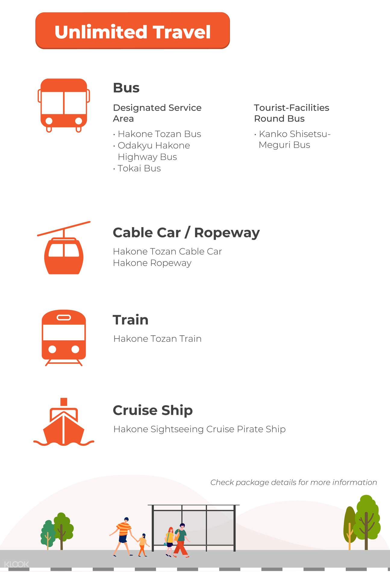 list of attractions for hakone pass
